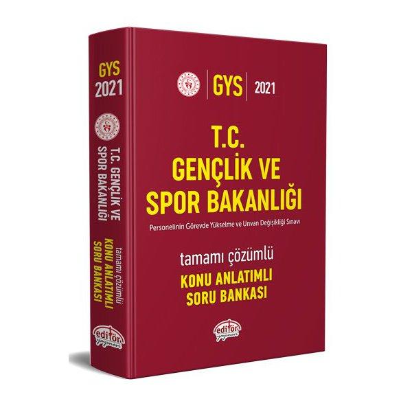 2021 T.C. Gençlik ve Spor Bakanlığı Görevde Yükselme ve Unvan Değişikliği Konu Anlatımlı Tamamı Çözümlü Soru Bankası Editör Y