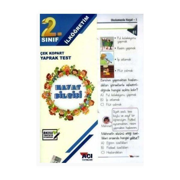 2. Sınıf Hayat Bilgisi Çek Kopart Yaprak Test Açı Yayınları
