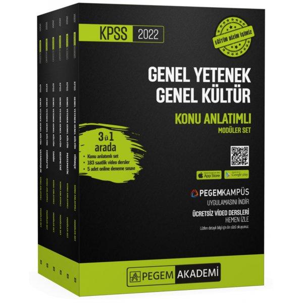 2022 KPSS Genel Yetenek Genel Kültür Konu Anlatımlı Modüler Set Pegem Yayınları