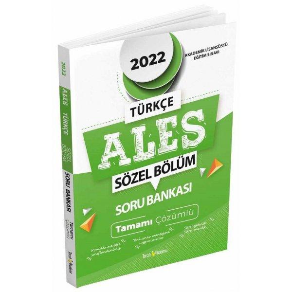 2022 ALES Sözel Soru Bankası Çözümlü Tercih Akademi Yayınları