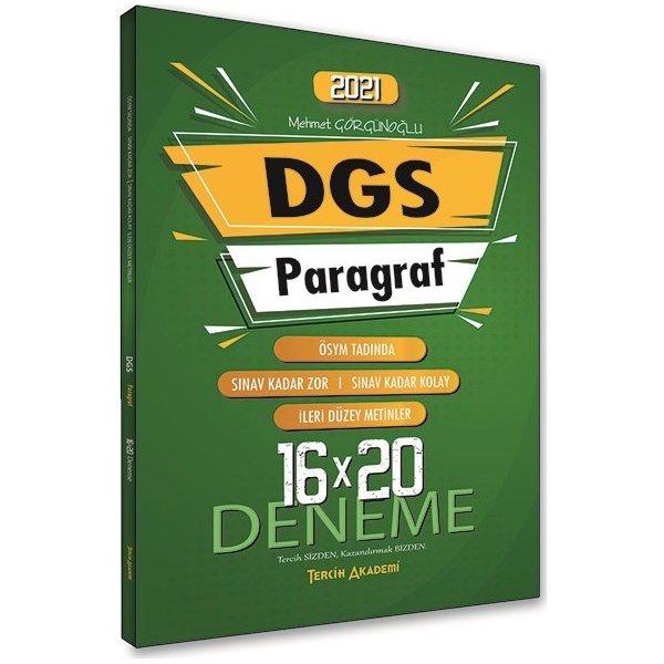2021 DGS Paragraf 16x20 Deneme Tercih Akademi Yayınları