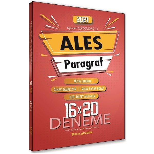 2021 ALES Paragraf 16x20 Deneme Tercih Akademi Yayınları