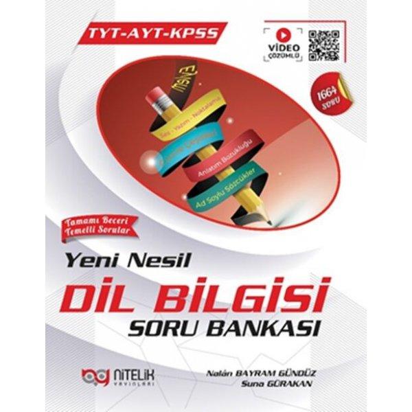 Nitelik Yayınları TYT AYT KPSS Dilbilgisi Yeni Nesil Soru Bankası