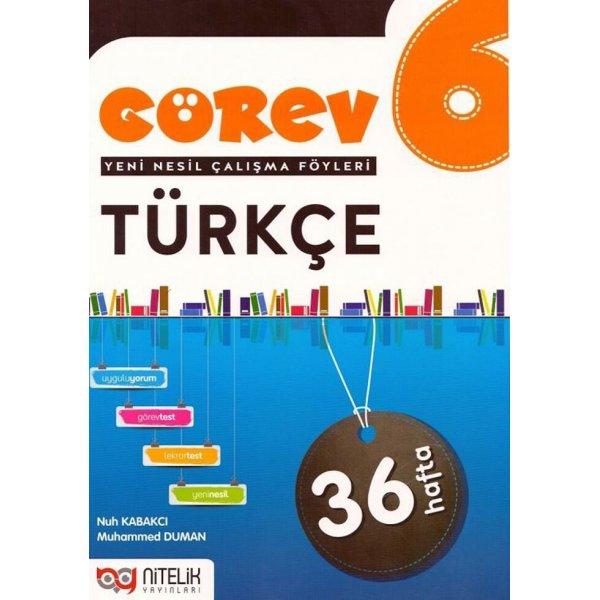 Nitelik Yayınları 6. Sınıf Türkçe Görev Yeni Nesil Çalışma Föyleri