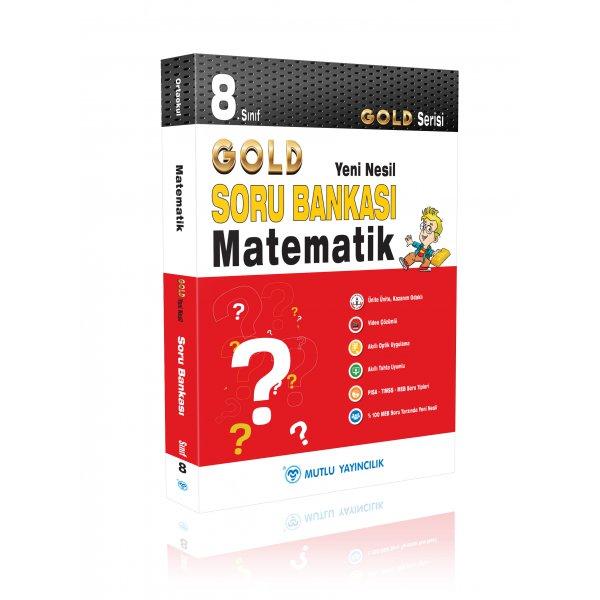 8.Sınıf LGS Matematik Gold Serisi Yeni Nesil Soru Bankası Mutlu Gold Yayınları