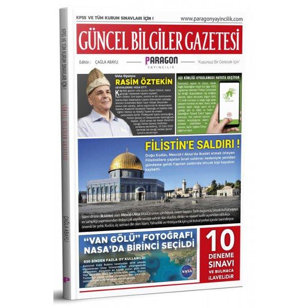 2021 Güncel Bilgiler Gazetesi KPSS ve Tüm Kurum Sınavları İçin 10 Deneme ve Bulmacalı Paragon Yayınları
