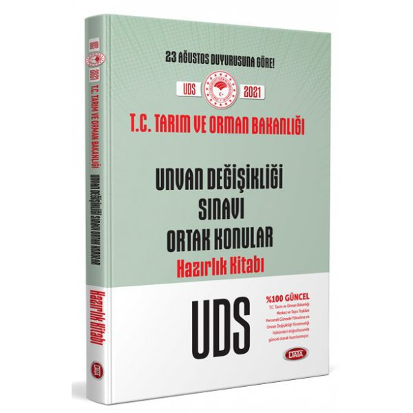 T.C. Tarım ve Orman Bakanlığı Unvan Değişikliği Sınavı Ortak Konular Hazırlık Kitabı Data Yayınları