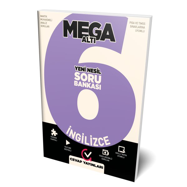 6.Sınıf MEGA İngilizce Soru Bankası Cevap Yayınları