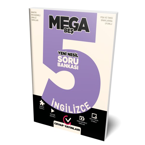 5.Sınıf MEGA İngilizce Soru Bankası Cevap Yayınları