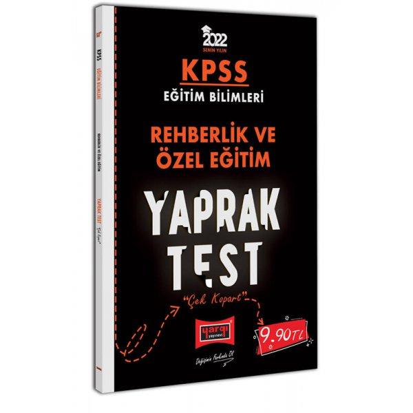 2022 KPSS Eğitim Bilimleri Rehberlik ve Özel Eğitim Yaprak Test Yargı Yayınları