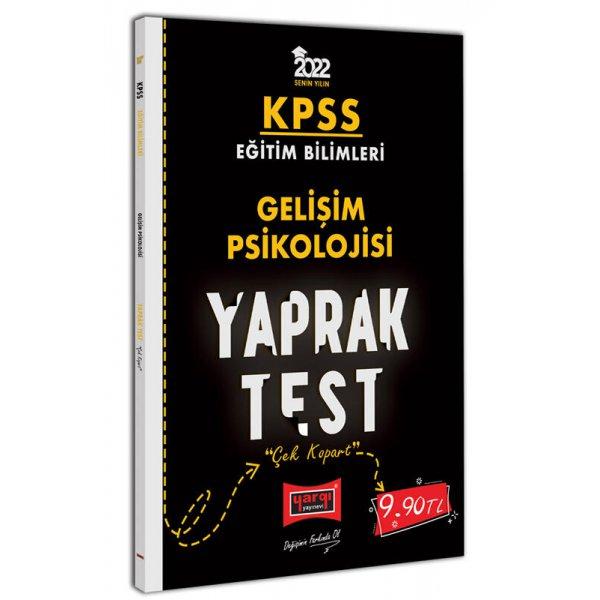 2022 KPSS Eğitim Bilimleri Gelişim Psikolojisi Yaprak Test Yargı Yayınları