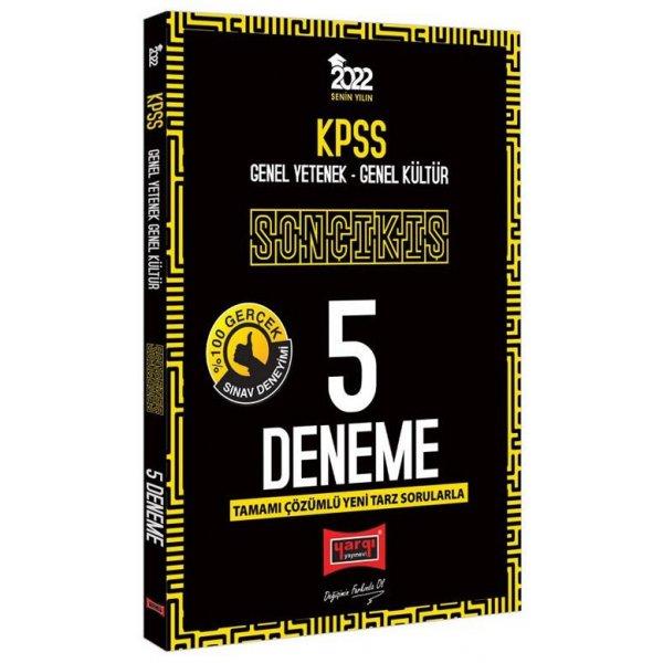 2022 KPSS Genel Yetenek Genel Kültür Son Çıkış 5 Deneme Çözümlü Yargı Yayınları