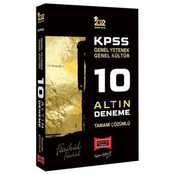 2022 KPSS Genel Yetenek Genel Kültür 10 Altın Fasikül Deneme Çözümlü Yargı Yayınları