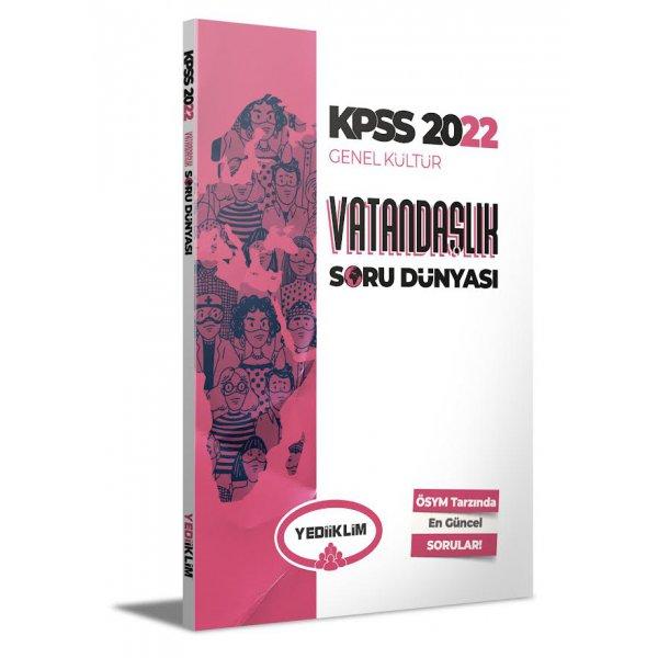 2022 KPSS Genel Kültür Vatandaşlık Soru Dünyası Yediiklim Yayınları