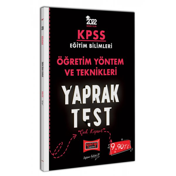2022 KPSS Eğitim Bilimleri Öğretim Yöntem ve Teknikleri Yaprak Test Yargı Yayınları