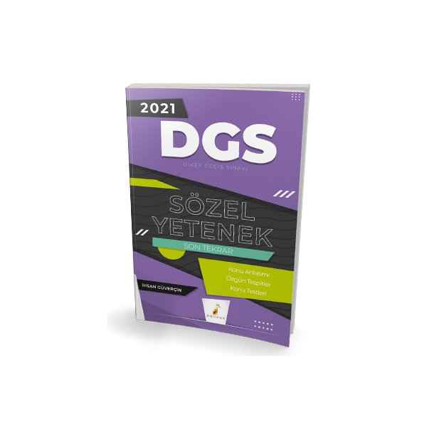 2021 DGS Sözel Yetenek Son Tekrar Konu Anlatımı Pelikan Yayınları