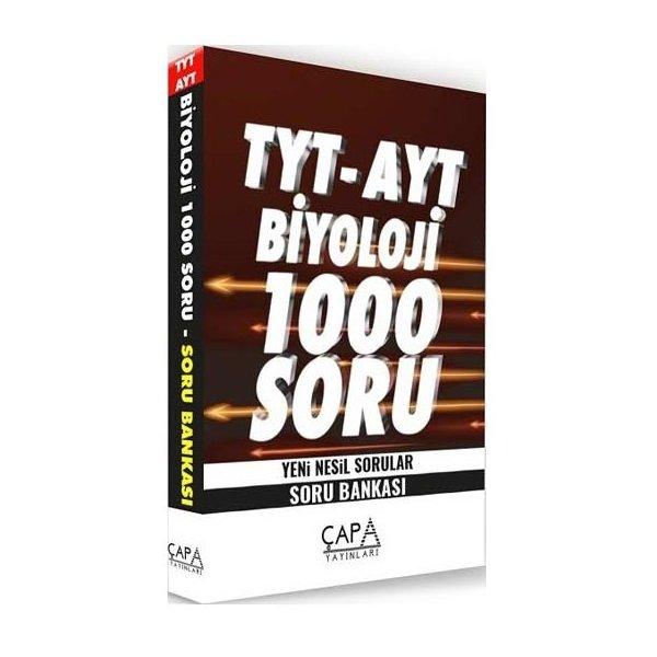 TYT AYT Biyoloji Soru Bankası 1000 Soru Çapa Yayınları