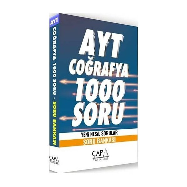 AYT Coğrafya Soru Bankası 1000 Soru Çapa Yayınları