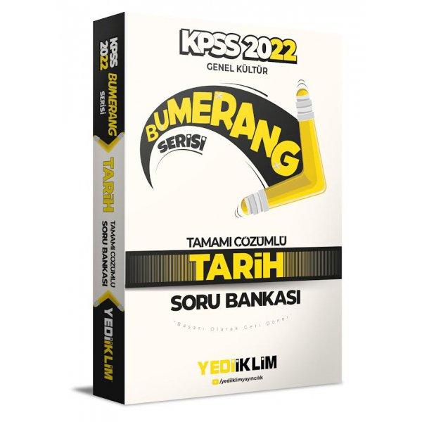 2022 KPSS Genel Kültür Bumerang Tarih Tamamı Çözümlü Soru Bankası Yediiklim Yayınları