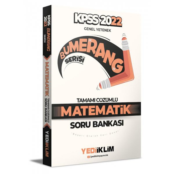 2022 KPSS Genel Yetenek Bumerang Matematik Tamamı Çözümlü Soru Bankası Yediiklim Yayınları