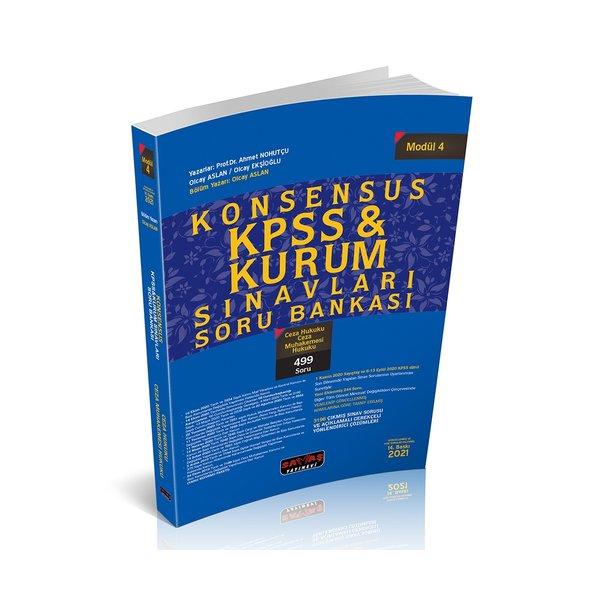 KONSENSUS KPSS Ceza Hukuku, Ceza Muhakemesi Hukuku Soru Bankası Modül 4 Savaş Yayınları