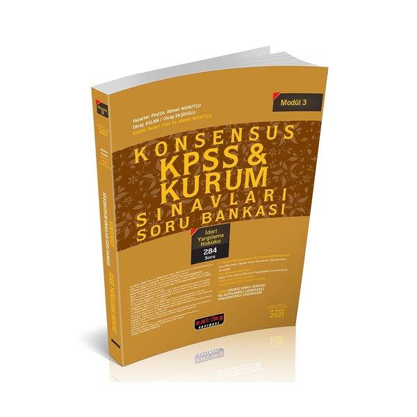 KONSENSUS KPSS İdari Yargılama Hukuku Soru Bankası Modül 3 Savaş Yayınları
