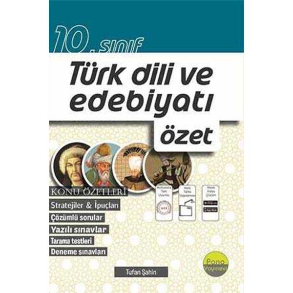 10. Sınıf Türk Dili ve Edebiyatı Özet Pano Yayınları