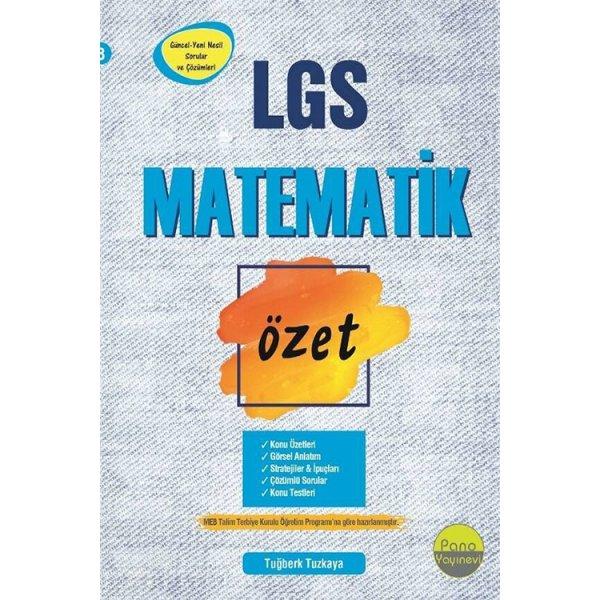 8.Sınıf LGS Matematik Özet Liselere Hazırlık Pano Yayınları