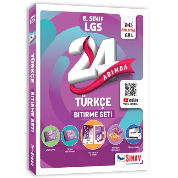 8. Sınıf LGS 24 Adımda Türkçe Bitirme Seti Sınav Yayınları