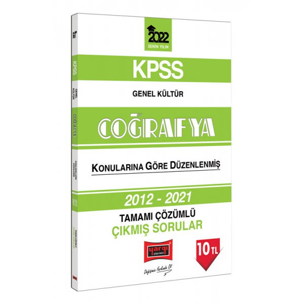2022 KPSS Genel Kültür Coğrafya Tamamı Çözümlü Çıkmış Sorular Yargı Yayınları