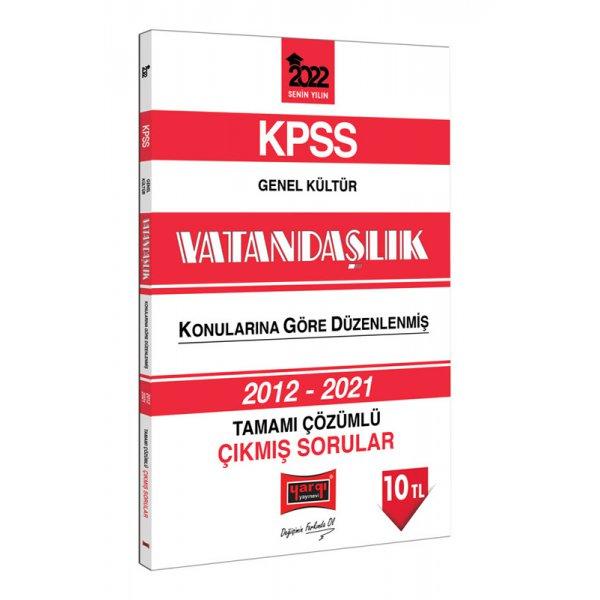 2022 KPSS Genel Kültür Vatandaşlık Tamamı Çözümlü Çıkmış Sorular Yargı Yayınları