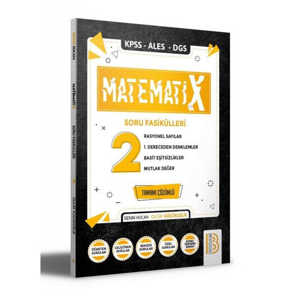 2022 KPSS ALES DGS MatematiX Soru Fasikülleri 2 Benim Hocam Yayınları