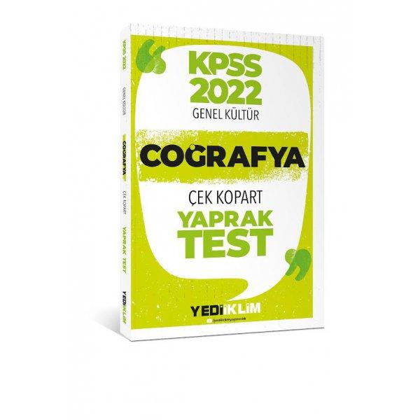 2022 KPSS Lisans Genel Kültür Coğrafya Çek Kopart Yaprak Test Yediiklim Yayınları