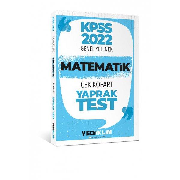 2022 KPSS Lisans Genel Yetenek Matematik Çek Kopart Yaprak Test Yediiklim Yayınları