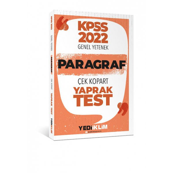2022 KPSS Paragraf Çek Kopart Yaprak Test Yediiklim Yayınları