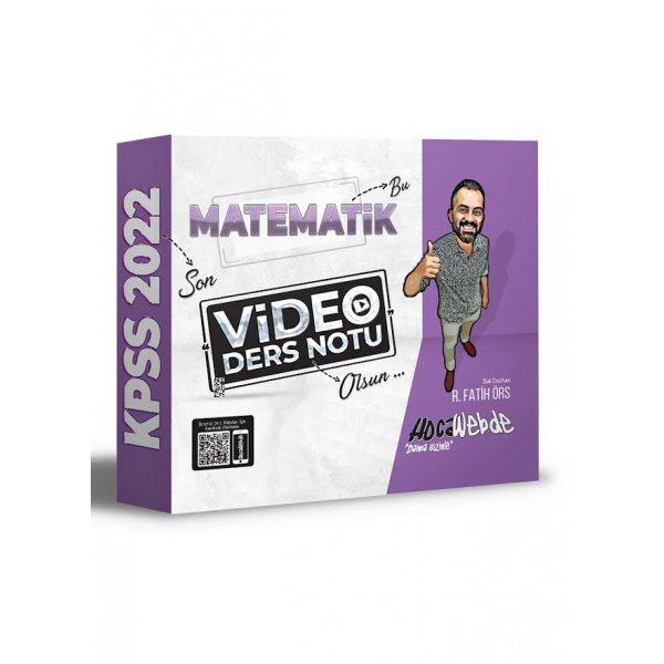 2022 KPSS Matematik Video Ders Notu R. Fatih Örs  HocaWebde Yayınları