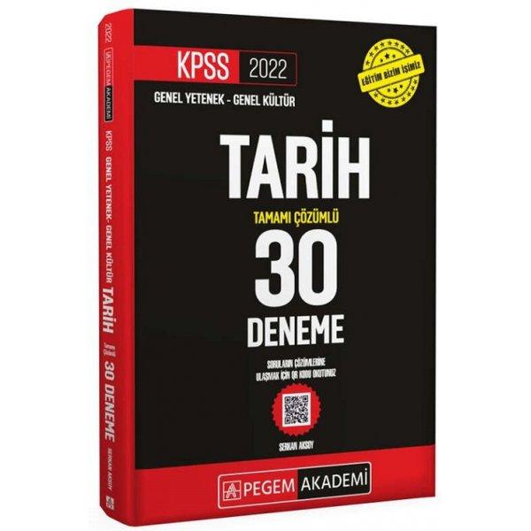 2022 KPSS Tarih 30 Deneme Çözümlü Pegem Yayınları