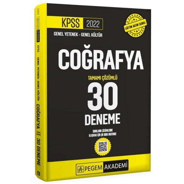 2022 KPSS Coğrafya 30 Deneme Çözümlü Pegem Yayınları