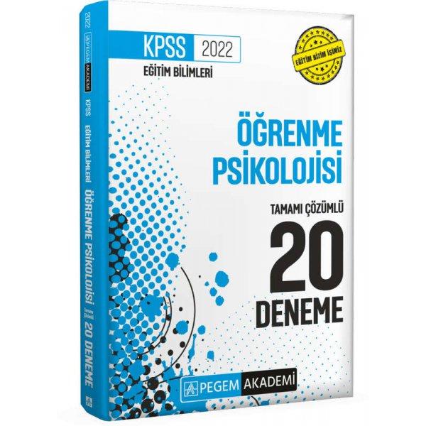 2022 KPSS Eğitim Bilimleri Öğrenme Psikolojisi Tamamı Çözümlü 20 Deneme Pegem Yayınları