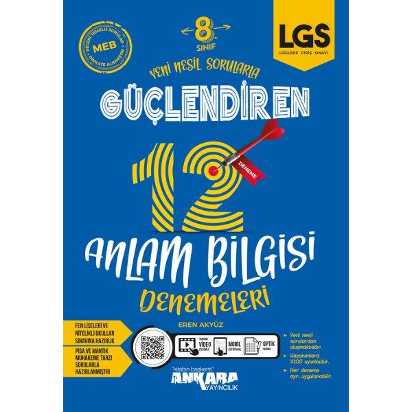 8. Sınıf  LGS Güçlendiren 12 Anlam Bilgisi Denemeleri Ankara Yayıncılık