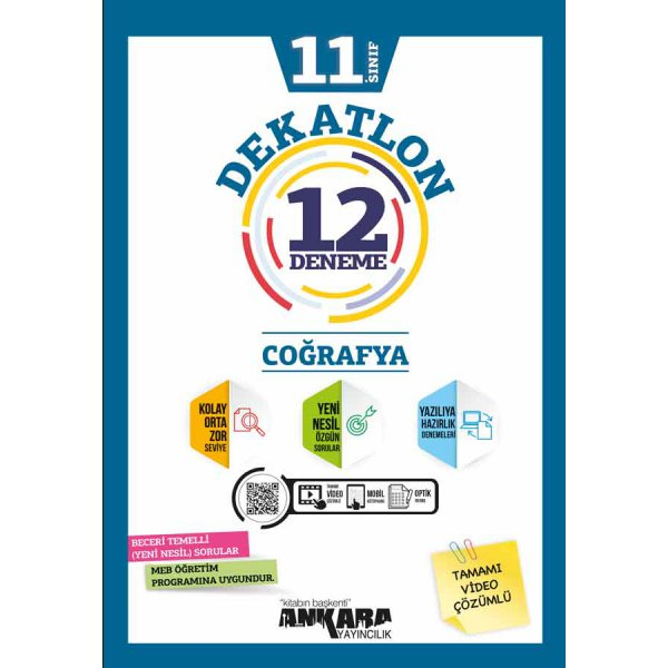 11. Sınıf Coğrafya Dekatlon 12 Deneme Ankara Yayıncılık