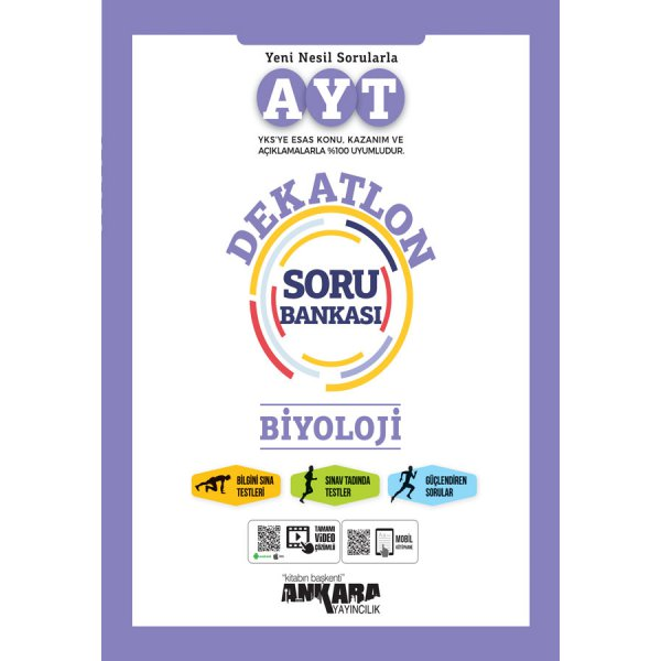 AYT Biyoloji Dekatlon Soru Bankası Ankara Yayıncılık