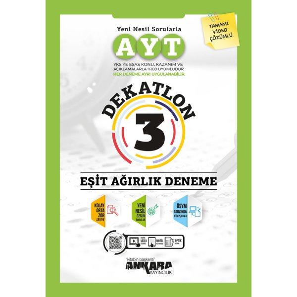AYT Dekatlon 3 Eşit Ağırlık Deneme Ankara Yayıncılık
