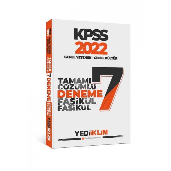 2022 KPSS Genel Yetenek Genel Kültür Tamamı Çözümlü 7 Fasikül Deneme Yediiklim Yayınları