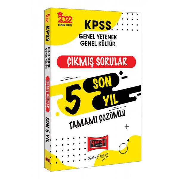 2022 KPSS Genel Yetenek Genel Kültür Tamamı Çözümlü Son 5 Yıl Çıkmış Sorular Yargı Yayınları