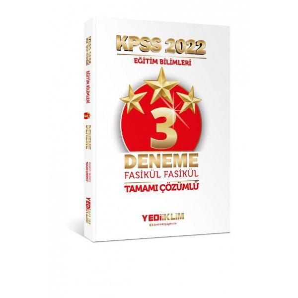 2022 KPSS Eğitim Bilimleri Tamamı Çözümlü Fasikül 3 Yıldız Deneme Yediiklim Yayınları