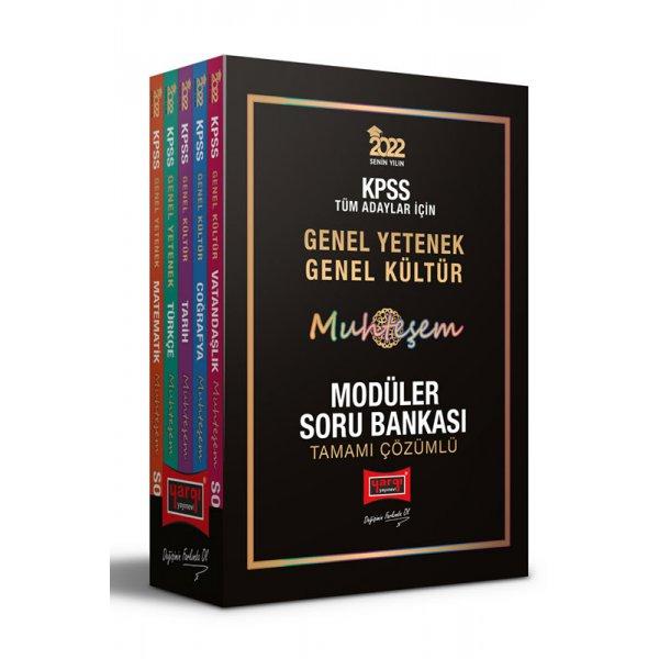 2022 KPSS Genel Yetenek Genel Kültür Muhteşem Tamamı Çözümlü Modüler Soru Bankası Yargı Yayınları