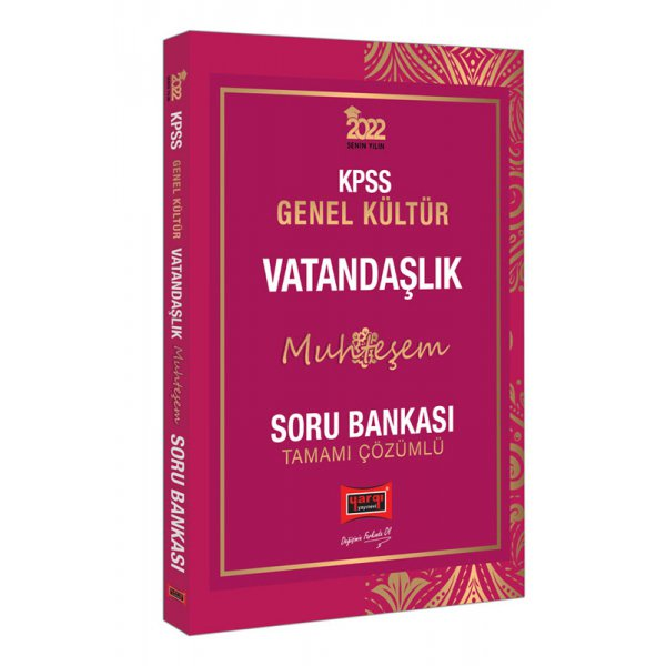 2022 KPSS Genel Kültür Muhteşem Vatandaşlık Tamamı Çözümlü Soru Bankası Yargı Yayınları