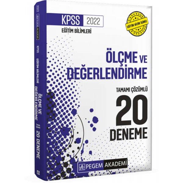 2022 KPSS Eğitim Bilimleri Ölçme ve Değerlendirme Tamamı Çözümlü 20 Deneme Pegem Yayınları