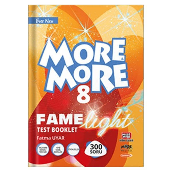 More and More English 8.Sınıf Fame Light Test Booklet Kurmay ELT Yayınları